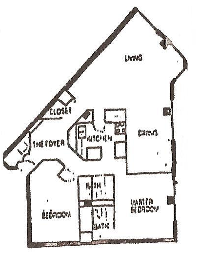 1,200 sq. ft. A floor plan