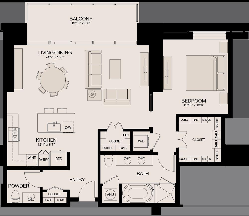 1,135 sq. ft. floor plan