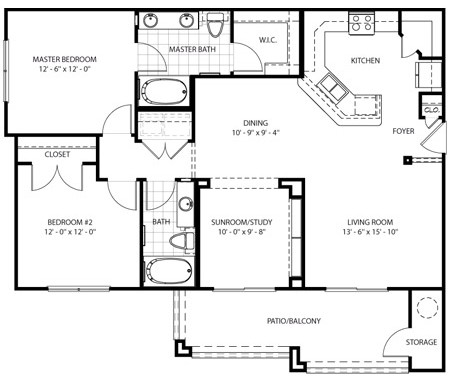 1,182 sq. ft. Adobe floor plan