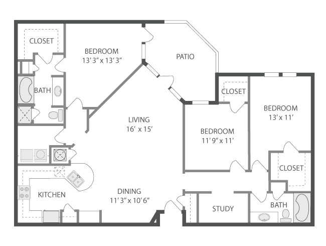 1,570 sq. ft. Zuma floor plan