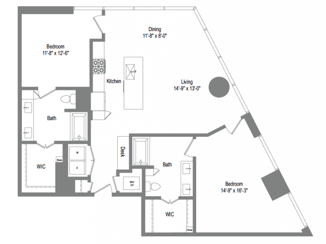 1,385 sq. ft. B7 floor plan