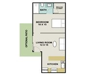 545 sq. ft. DOGWOOD floor plan