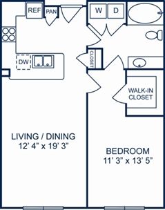 754 sq. ft. Dublin floor plan