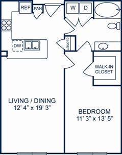 754 sq. ft. Dublin floor plan