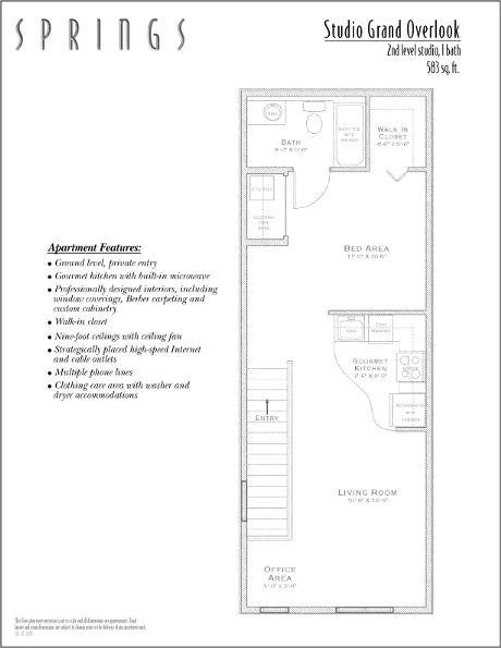 583 sq. ft. STUDIO floor plan