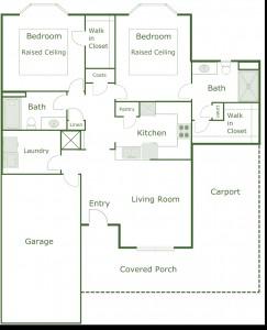 1,200 sq. ft. Cottage floor plan