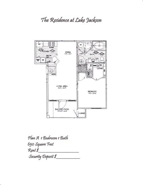 654 sq. ft. A floor plan