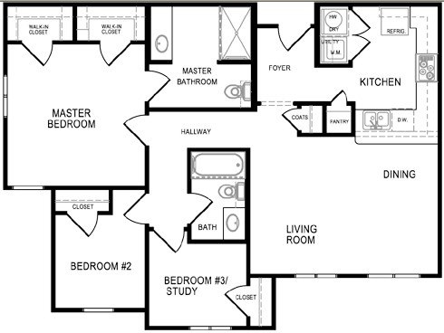1,072 sq. ft. SUNFLOWER/60% floor plan