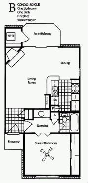 650 sq. ft. Magnolia floor plan