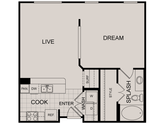 704 sq. ft. Rockefeller floor plan