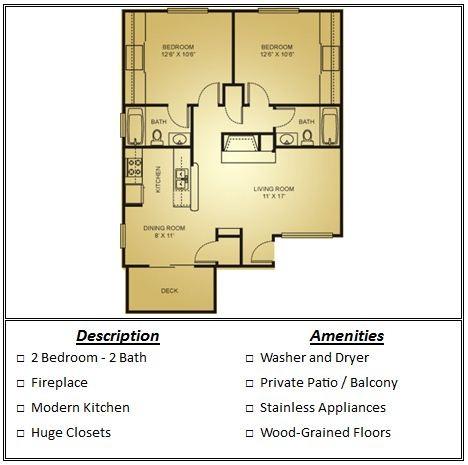 846 sq. ft. 50% floor plan