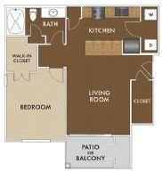 698 sq. ft. Dylan floor plan