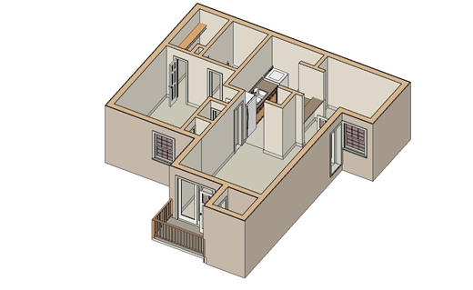 662 sq. ft. A-4 floor plan