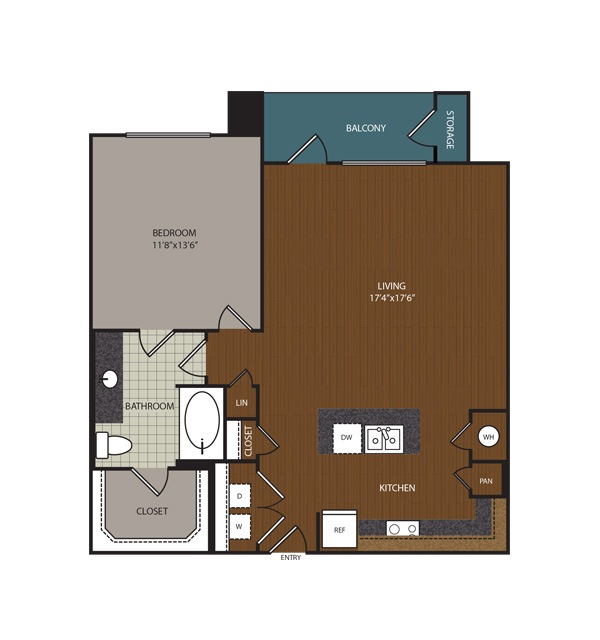 865 sq. ft. Round Rock floor plan