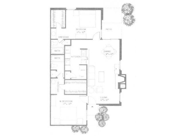 1,033 sq. ft. E10 floor plan