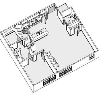 1,171 sq. ft. floor plan