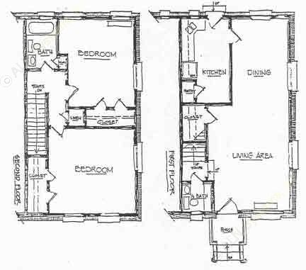 1,150 sq. ft. C-1 floor plan