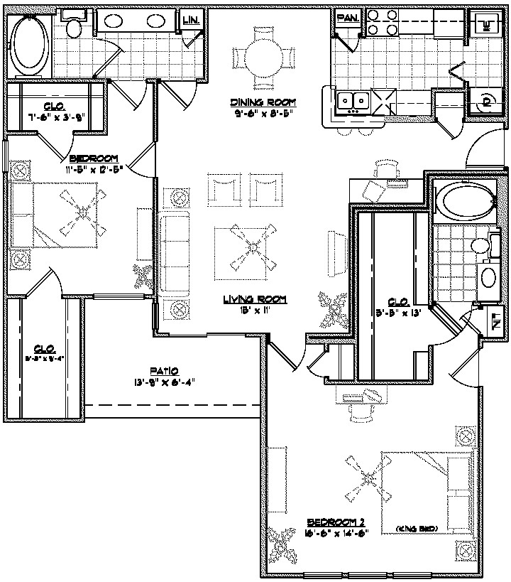 1,479 sq. ft. B4 floor plan