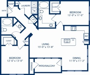 1,221 sq. ft. Dogwood floor plan