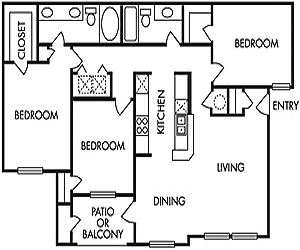 1,248 sq. ft. G floor plan
