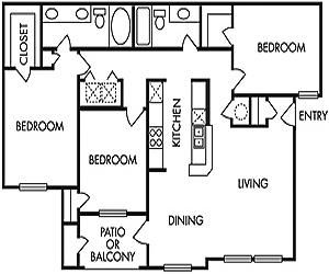 1,248 sq. ft. G floor plan
