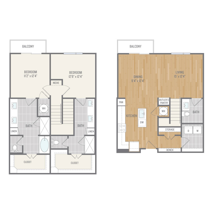 1,685 sq. ft. B7TH floor plan