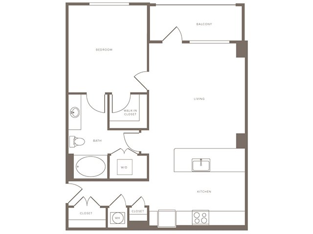 864 sq. ft. A10 floor plan