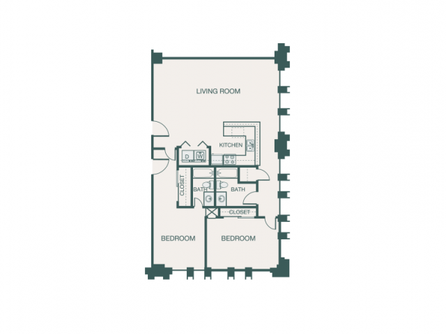 1,194 sq. ft. G2A floor plan
