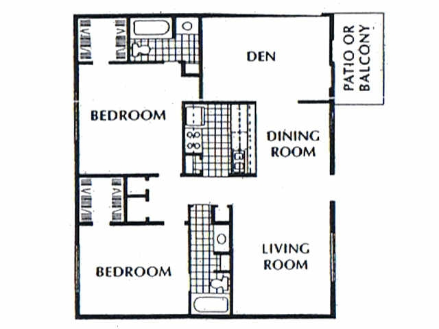1,209 sq. ft. B7 floor plan