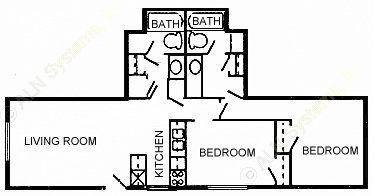 860 sq. ft. 60 floor plan