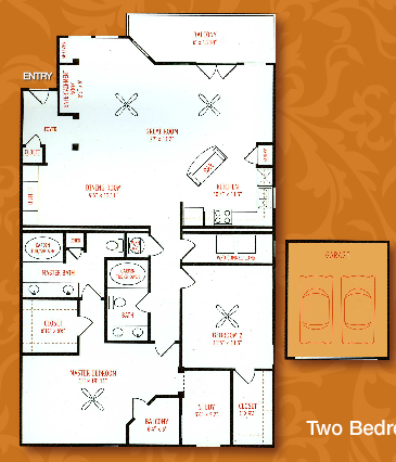 1,474 sq. ft. B4 floor plan
