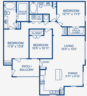 1,365 sq. ft. Bosque floor plan