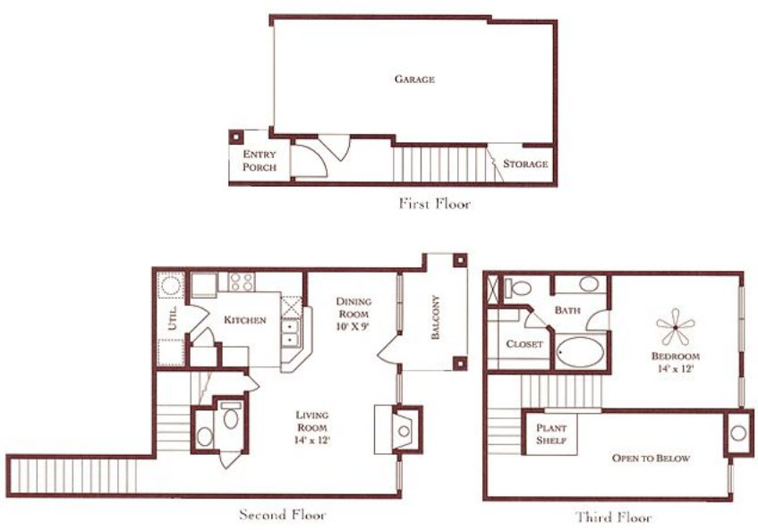 900 sq. ft. A2-Garage floor plan