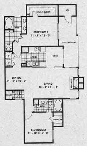 1,211 sq. ft. Roxburgh floor plan