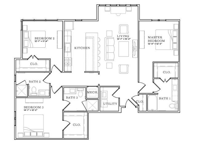 1,545 sq. ft. floor plan