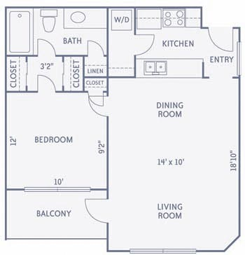 667 sq. ft. to 668 sq. ft. A5/A6 floor plan