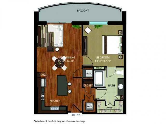817 sq. ft. A12 floor plan