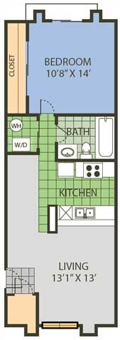 559 sq. ft. Ace floor plan