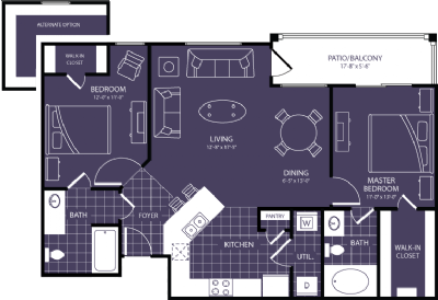 1,046 sq. ft. Nova floor plan