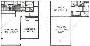 941 sq. ft. E floor plan