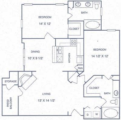 1,140 sq. ft. GP floor plan