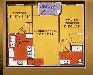 813 sq. ft. AMELIA 60% floor plan