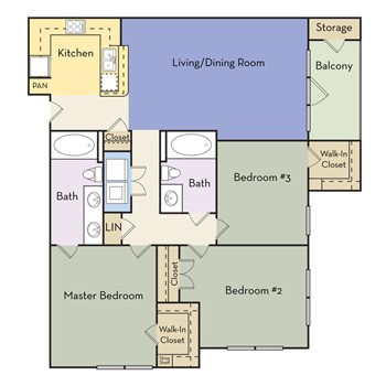1,212 sq. ft. Dorchester - C2 II floor plan
