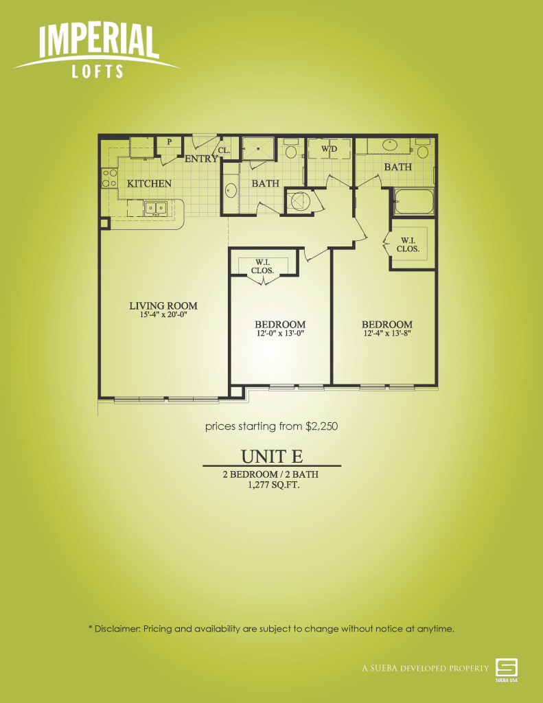 1,277 sq. ft. E floor plan