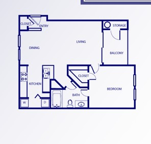 656 sq. ft. A/CHIPPENDALE floor plan