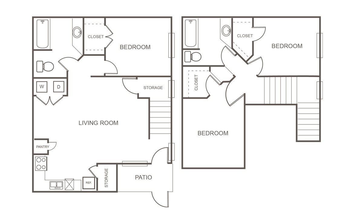 1,207 sq. ft. Mkt floor plan