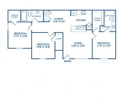 1,146 sq. ft. Trinity floor plan