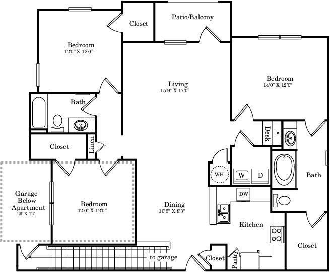 1,567 sq. ft. C1G floor plan