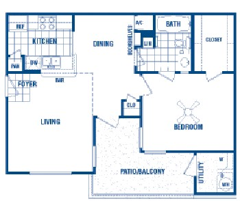 660 sq. ft. Liam floor plan