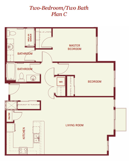 1,041 sq. ft. floor plan
